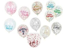 6/5  Clear Confetti  Balloons Birthday Party Wedding Decorations Gold Pink Blue