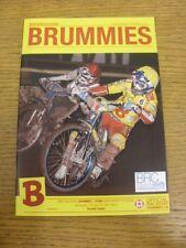 14/04/2010 Speedway Programme: Birmingham v Stoke [Premier Trophy] (results note