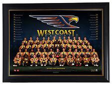 West Coast Eagles 2017 AFL OFFICIAL Team Print Framed Kennedy Naitanui Mitchell