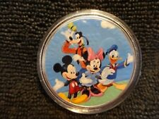 """2017 Silver Eagle Colorized """" GOOFY AND FRIENDS """" Limited to 5 all  awesome"""