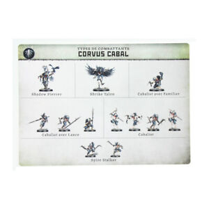 WCAJ40 CARTE APTITUDES CORVUS CABAL WARCRY WARHAMMER AOS BITZ