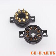 CMC 8-Pin Octal Bakelite Tube Socket for KT88 EL34 6550 6V6 Gold Plated Pins*10