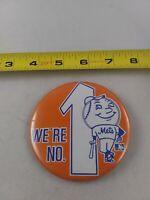 Vintage New York Mets Mr. Met Mascot #1 pin button pinback *EE78