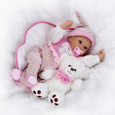 "22""/ 55cm Soft Vinyl Silicone Real Looking Reborn Baby Dolls Xmas Gift for Kids"