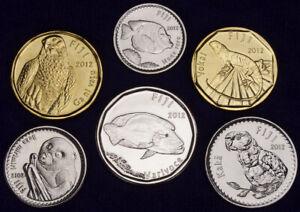 Fiji 2 Dollars to 5 Cents 2012 UNC Set - 6 pcs (GLCS-001)