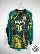 Retro YOKOHAMA MARINOS 90s GK Football Shirt (L) J-League Soccer Jersey Adidas