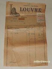 Ancienne FACTURE Septembre 1924 GRANDS MAGASINS du LOUVRE - Paquet pressé