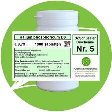 Schüßler - Salz 5 Kalium phos.  D6 1000 Tabletten PZN 08000560