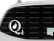 White Rabbit Q Vinyl Decal Choice Of Size And Color Wwg1Wga Trump 2020 Qanon