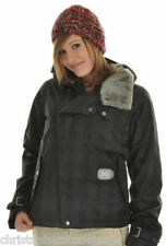 Burton Ipod Dutchess Insulated Snowboard Jacket True Black Gingham Womens Sz L