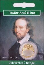 Tudor Shakespeare Sello Anillo-Chapado en Oro