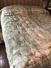 Pottery Barn King Silk And Cotton Comforter and 2 Euro Shams