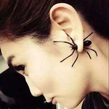 2017 Womens Halloween Black Spider Charm Ear Stud Earrings Jewelry Earring,1Pcs