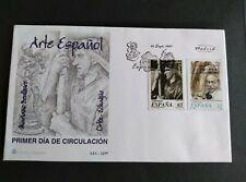 SOBRE PRIMER DÍA FDC ESPAÑA 1997 ARTE ESPAÑOL MARIANO BENLLIURE Y ORTIZ ECHAGUE