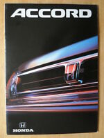 HONDA ACCORD Saloon orig 1991-92 French Mkt Sales Brochure