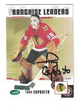 Tony Esposito AUTOGRAPH PARKHURST ORIGINAL 6 HOCKEY CARD SIGNED CHICAGO BLACKHAW