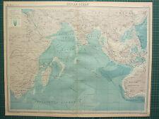 1921 LARGE MAP ~ INDIAN OCEAN ~ ROUTES SUMATRA INDIA BURMA ARABIA AFRICA