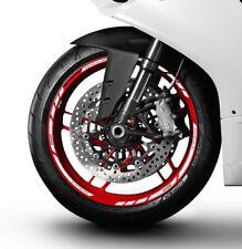Ducati Panigale 959 899 wheel decals stickers rim stripes Laminated white 1199