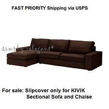 IKEA KIVIK Cover for KIVIK Sectional Sofa & Chaise 4-seat Tullinge Dark Brown