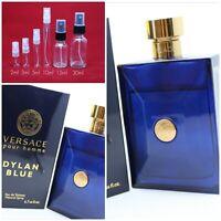 DYLAN BLUE Versace EDT Authentic SAMPLE 2ml 3ml 5ml 10ml 15ml 30ml Glass Spray