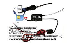 Microspia microfono antifurto GSM professionale VOX 12Volt per auto camper