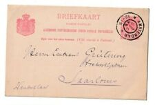 Netherlands Postal History: Large round Amsterdam 3Dec99 to Saalouis, Germany