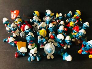 Vintage LOT of 31 Smurf Toys Figures 60's, 70's, 80's Some Rare