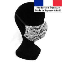 Masque protection Motif Serpent design à la mode réutilisable barrière  AFNOR