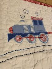 Pottery Barn Kids All Aboard Crib Nursery Bedding