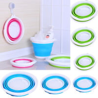 Silicone Folding Collapsible Bucket Kitchen Camp Garden Water Carrier 1.5L--10L