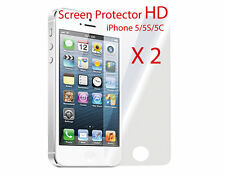 2x Ultra Clear LCD Screen Protector for Apple iPhone 5 5S 5C Film Guard Cover