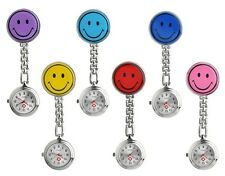 Stainless Steel Fashion Smiley Face Nurse's Pocket Watch Fob Gift