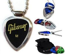 GIBSON picks & PICKBAY guitar pick holder pendant necklace Set Great Gift RockON