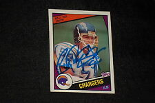 BILLY RAY SMITH 1984 TOPPS ROOKIE SIGNED AUTOGRAPHED CARD #184 CHARGERS