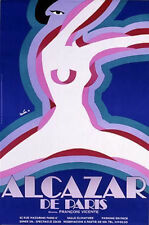 Original Vintage Poster Alcazar de Paris Nude Girls GoGo French Showgirls Dance