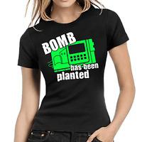 Bomb has been planted Geek Gamer Nerd Sprüche Fun Comedy Damen Girlie T-Shirt