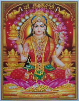 "Laxmi Lakshmi Maa - Hindu Money Goddess - POSTER - Normal Paper, Size: 8.5""x11"""