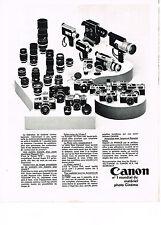 publicité advertising  1970   CANON    le n°1 mondial du matériel photo cinéma