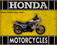 Honda CX500 Turbo 1982 MOTORCYCLE METAL TIN SIGN POSTER WALL PLAQUE