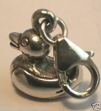A Clip Pendente Charm Rubber Duck Anatra argento Sterling Charm 3d Regalo