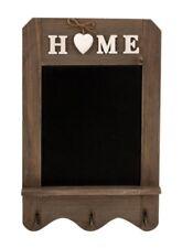 Holz Tafel Home mit Metallhaken