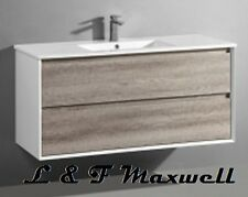 Polyurethane Gloss Frame and timberlooking Vanity with ceramic basin 1200mm