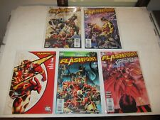 Flash In Flashpoint, #s 1 2 3 4 & 5, Complete Series Run, Ref. Justice League