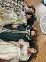 Porcelain Doll Lot 4 Large Dolls Pre-Owned In Nice Condition.