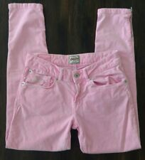 "Vintage SuperDry Womens Size 26 Pink Wash Denim Skinny Jeans Low Rise 25"" Inseam"