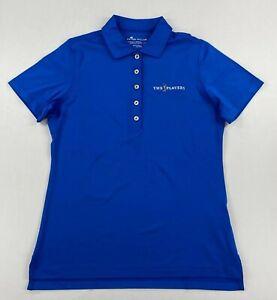 Peter Millar Womens Golf Polo Short Sleeve Shirt Blue Size Small