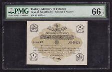 Turkey Ottoman 5 Piastres 1916-17 P#87 Gem Unc PMG 66 EPQ High Grade