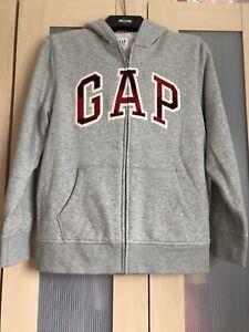 Gap Kids Grey Hoddy Full Zip Sheepskin Lined Size XXL