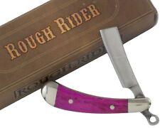 "Rough Rider Pink Smooth Handles Mini Razor Pocket Knife RR1361 2"" Closed Folding"