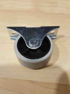 IKEA Rubber Caster Wheel 1.5 inch Round Roller Gray